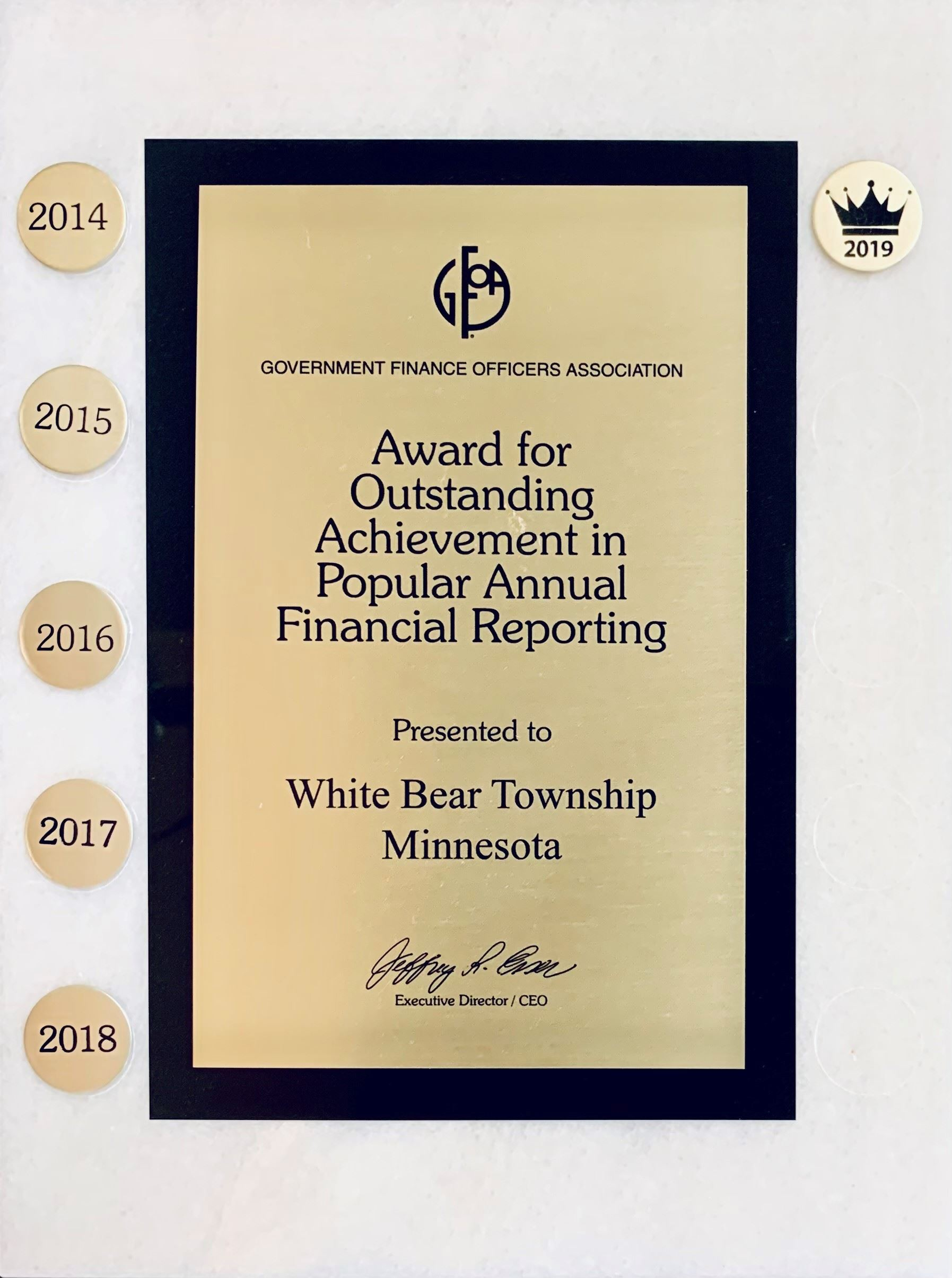 GFAO Popular Annual Financial Reporting - 2016