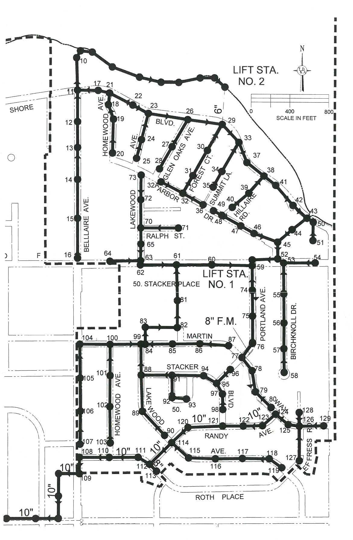 Sanitary Sewer Lining Project Map